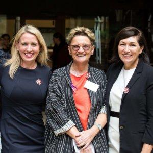MP Kate Jones, Cathy Hunt & MP Leeanne Enoch