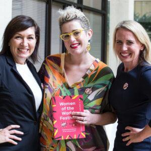 MP Leeanne Enoch, Katie Noonan & MP Kate Jones